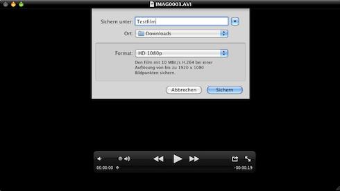 QuickTime Export