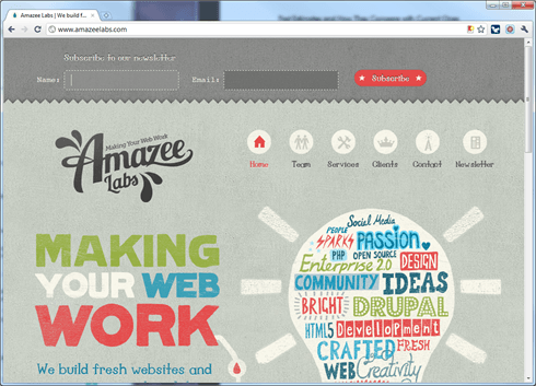 Amazee Newsletter Anmeldung