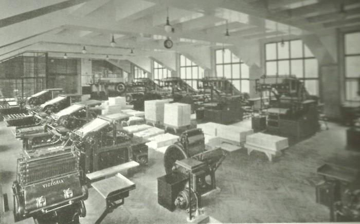 Maschinensaal im Erdgeschoss 1926 Kopie