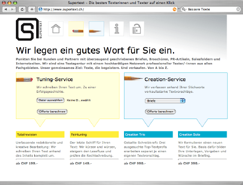 Supertext AG Neue Homepage