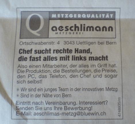 Stellenanzeiger Metzger
