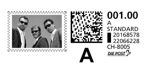 Supertext Briefmarke