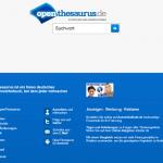 OpenThesaurus: die Synonyme-Schleuder.