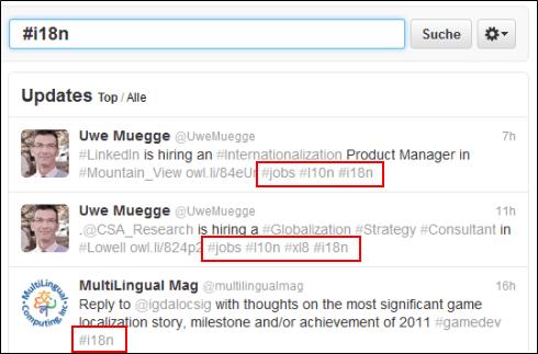 Twitter Hashtags für Übersetzer