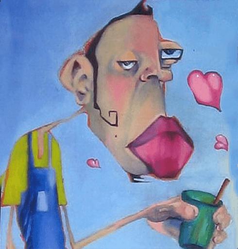 was oder. denn a) flirtet die Person auch mit anderen und b). Ein Mann ...
