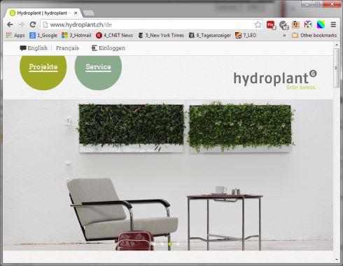Hydroplant Website auf dem Drupal CMS