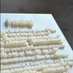 3D-Druck: Hongtao Zhou macht Texte zum Anfassen