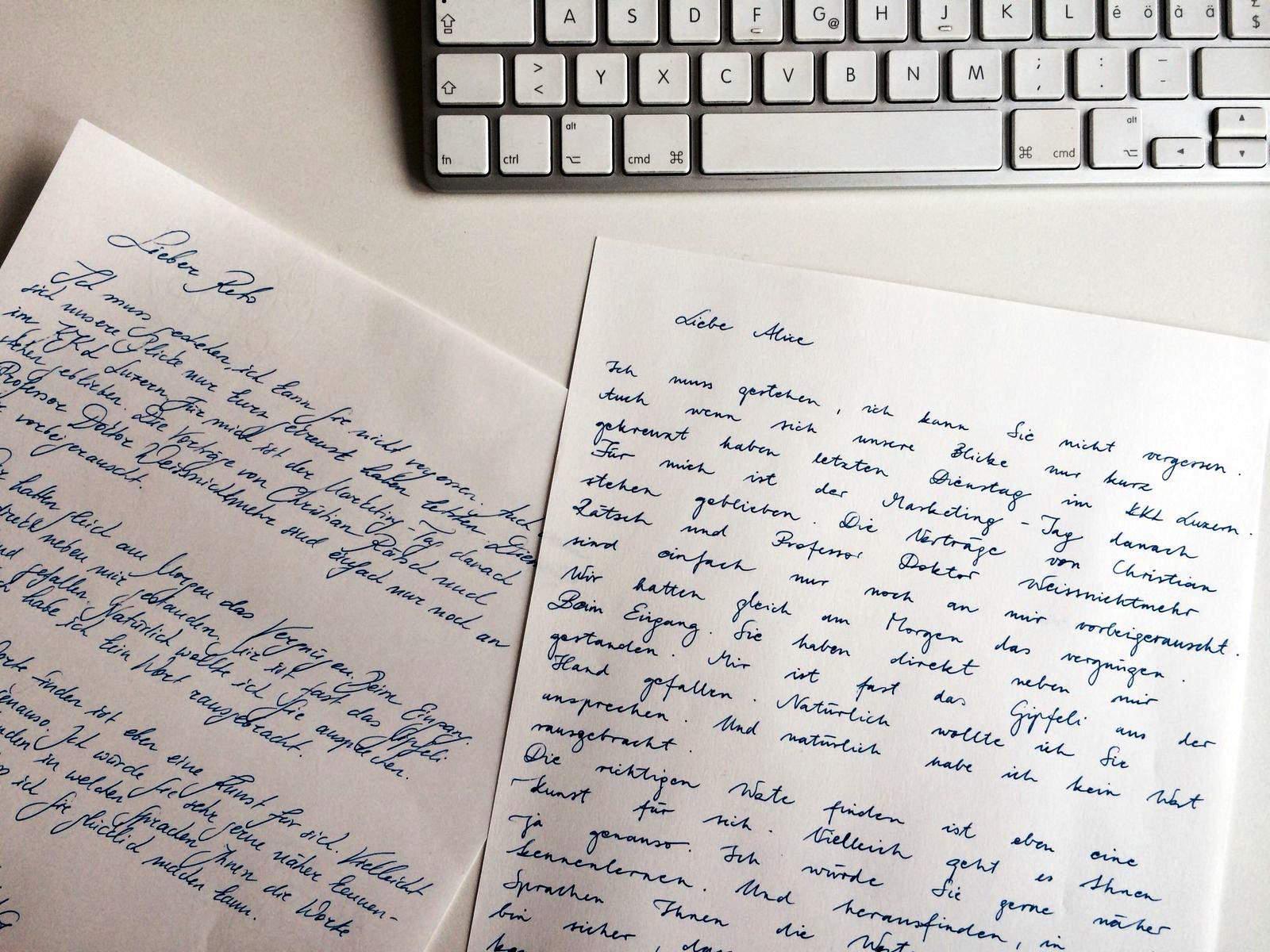 Supertext sorgt mit handgeschriebenem Liebesbrief für