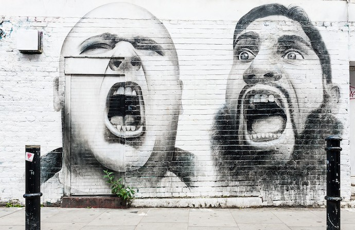 Küchenzuruf Graffiti