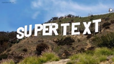 Supertext Hollywood Sign