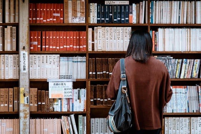 Woman reading translation
