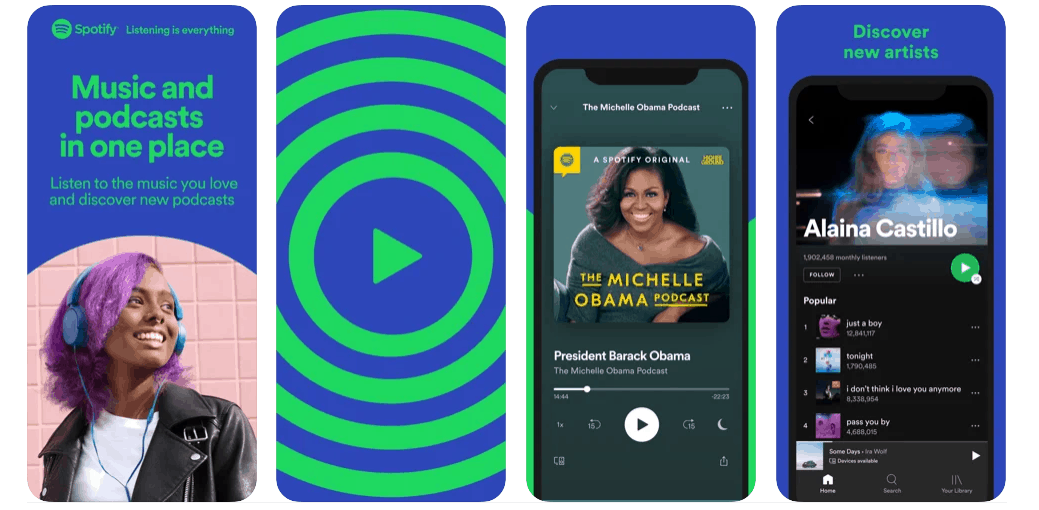 Screenshots Spotify